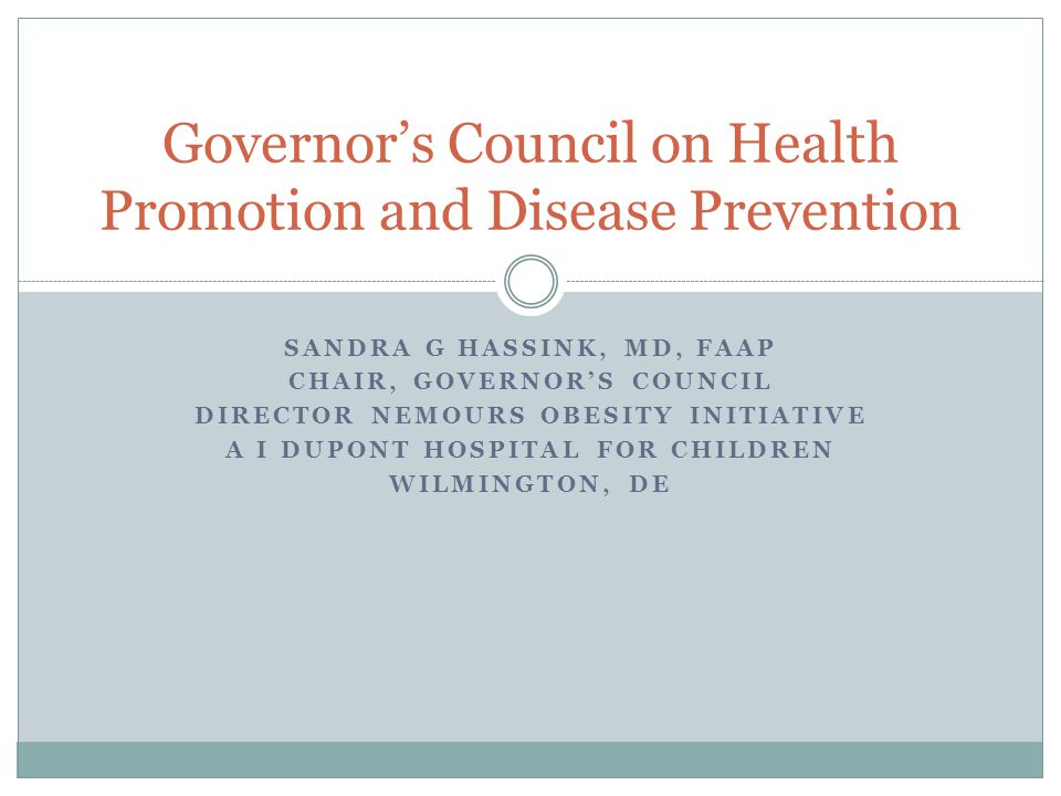 Governor's Council on Health Promotion and Disease Prevention