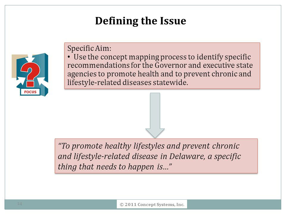 Defining the Issue Specific Aim: