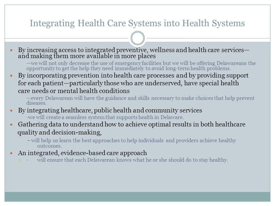 Integrating Health Care Systems into Health Systems