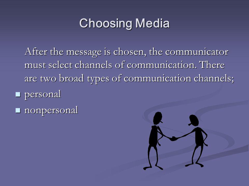 Choosing Media
