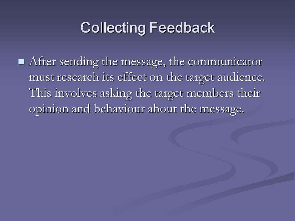 Collecting Feedback