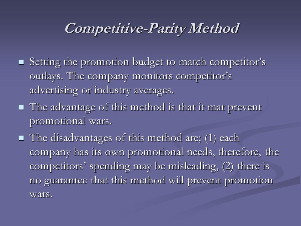 Competitive-Parity Method