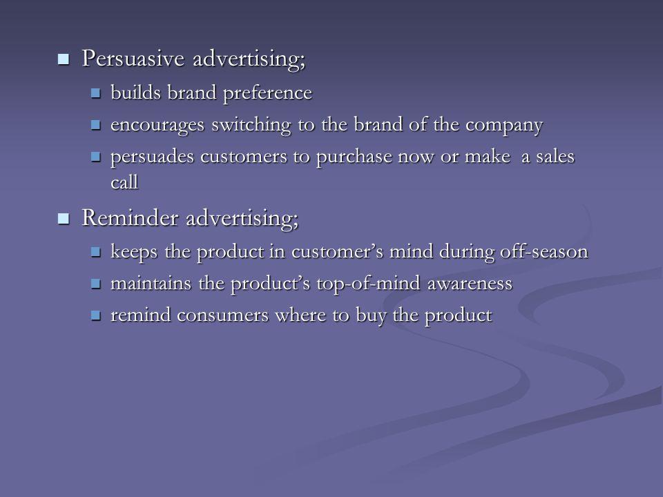 Persuasive advertising;
