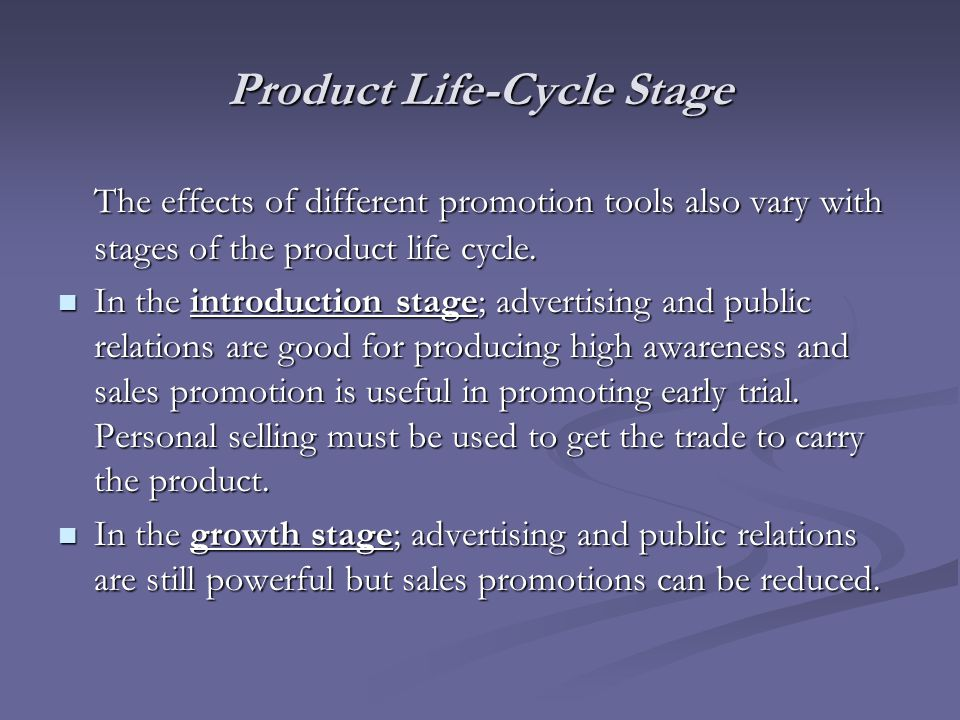 Product Life-Cycle Stage