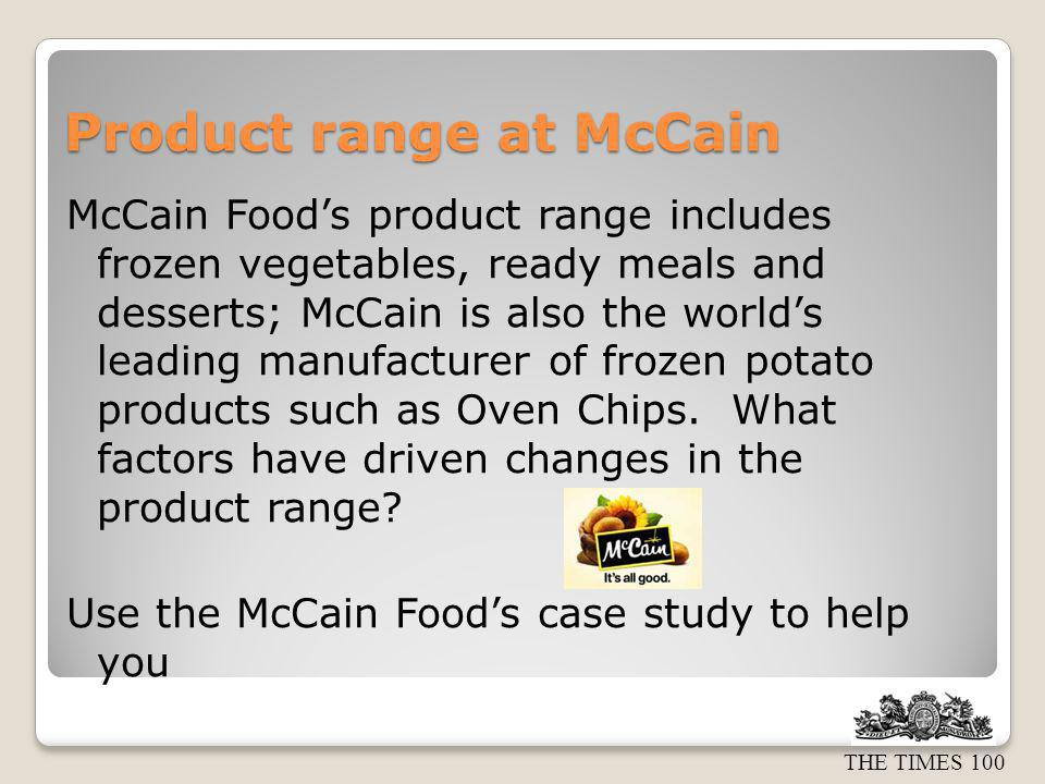 Product range at McCain