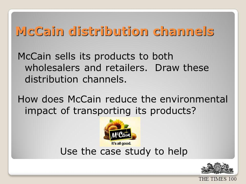 McCain distribution channels