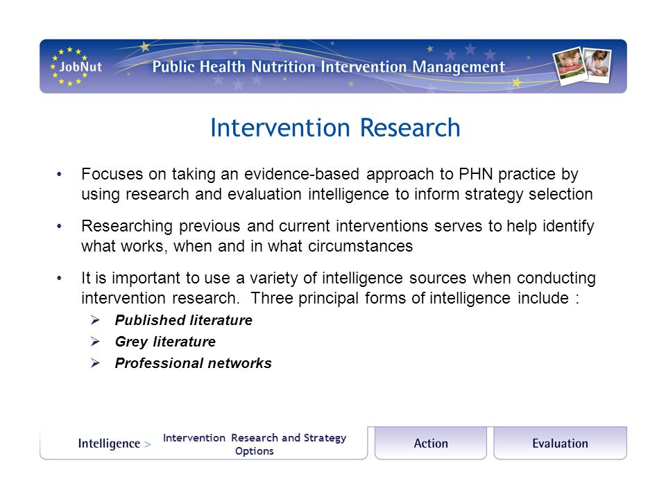 Intervention Research and Strategy Options