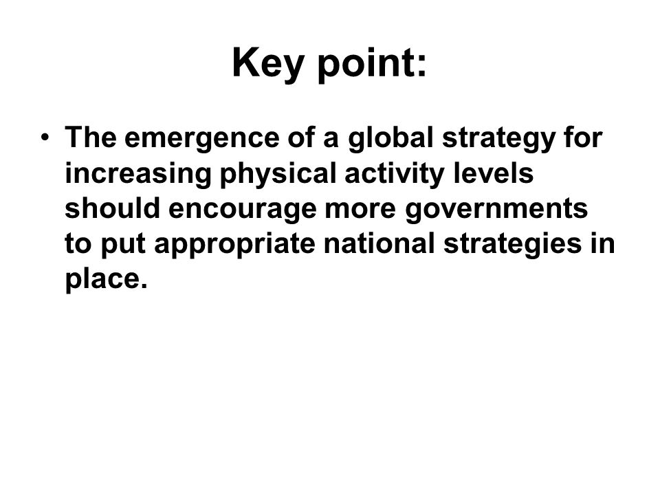 Key point: