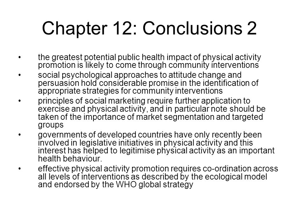 Chapter 12: Conclusions 2