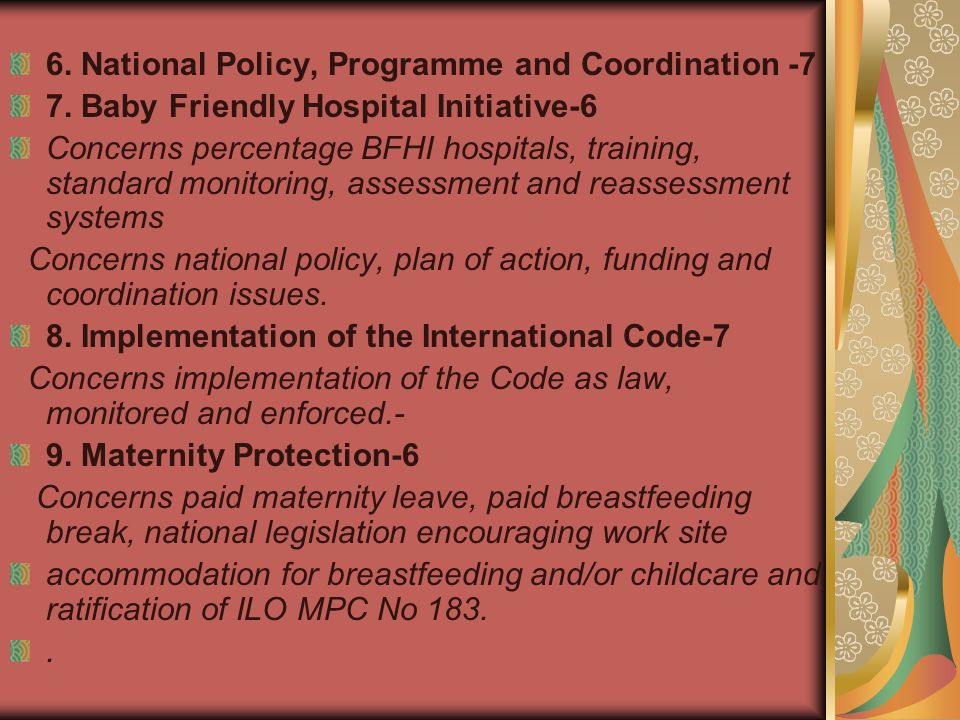 6. National Policy, Programme and Coordination -7