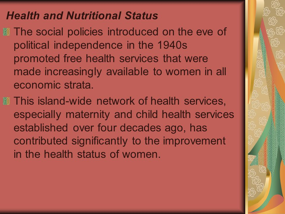 Health and Nutritional Status