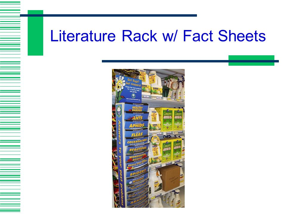 Literature Rack w/ Fact Sheets