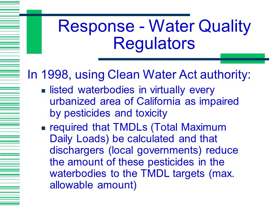 Response - Water Quality Regulators