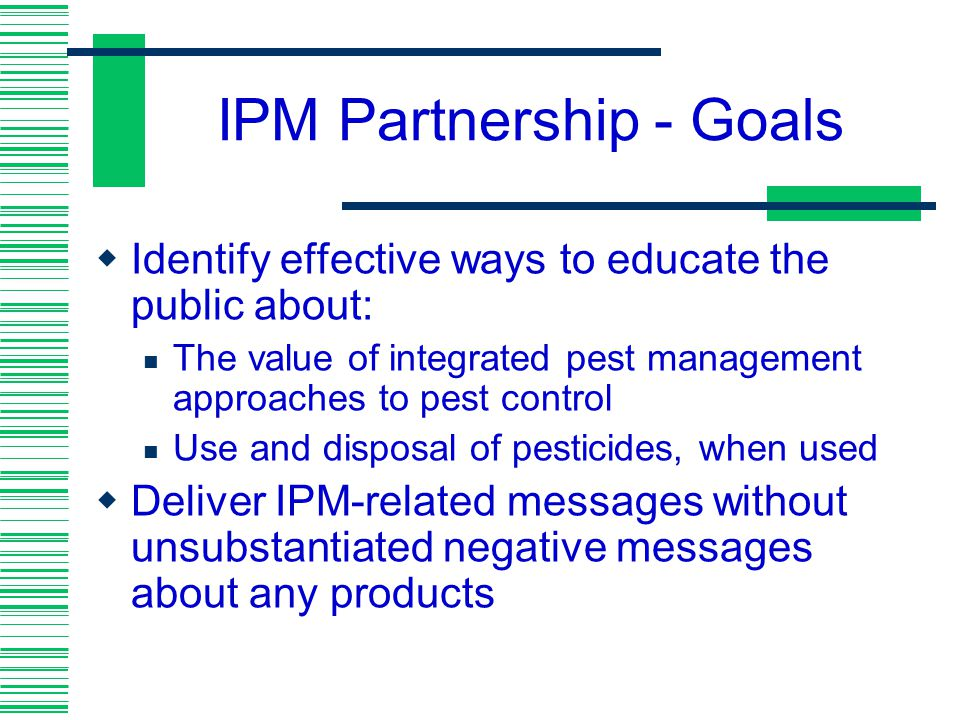 IPM Partnership - Goals