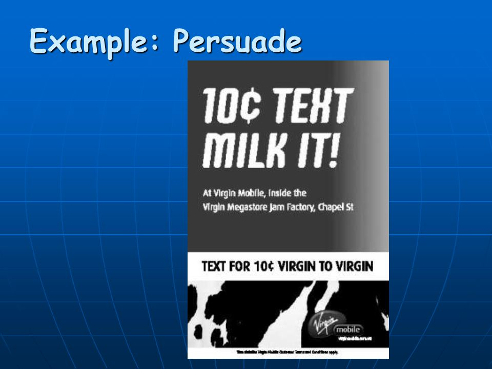 Example: Persuade
