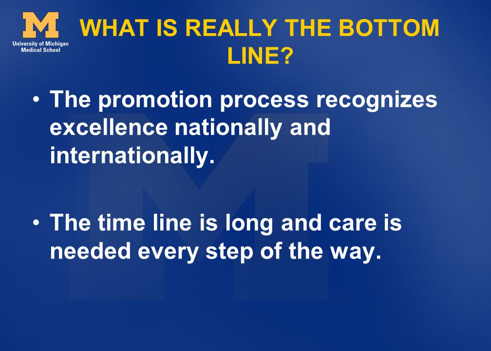 WHAT IS REALLY THE BOTTOM LINE