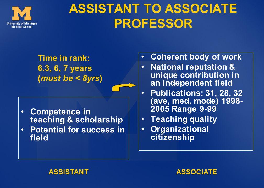 ASSISTANT TO ASSOCIATE PROFESSOR