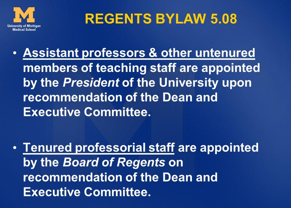 REGENTS BYLAW 5.08