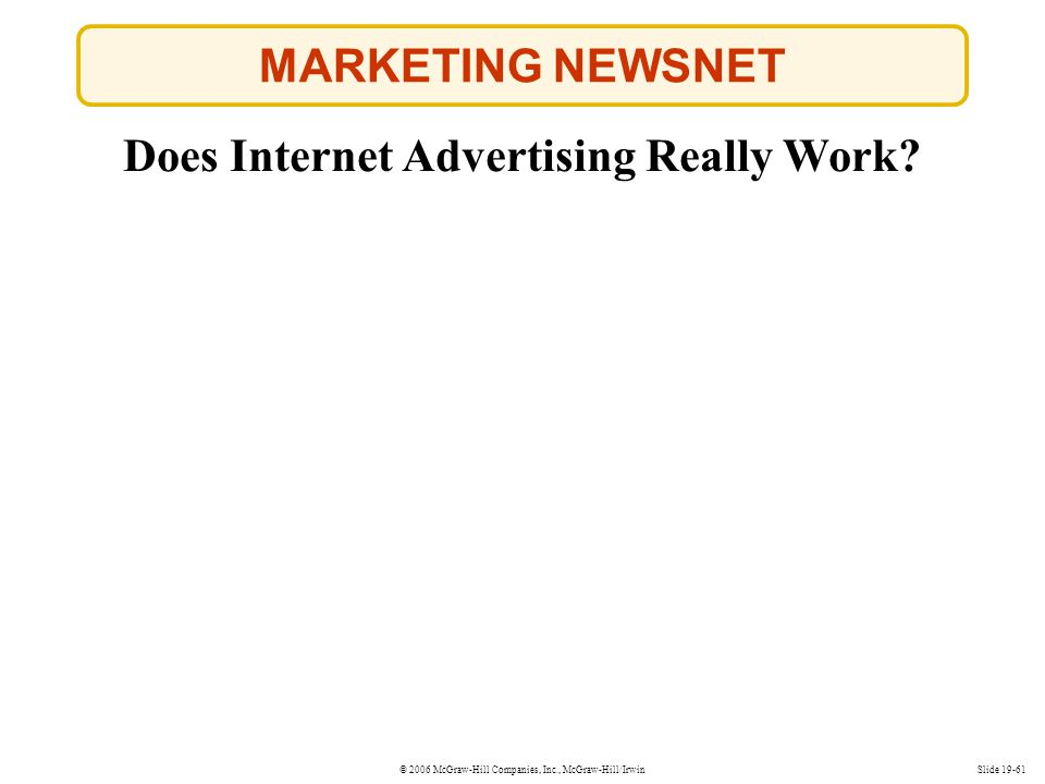 Does Internet Advertising Really Work