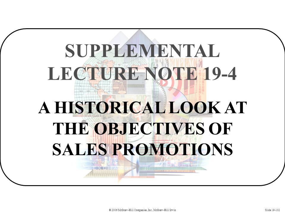 SUPPLEMENTAL LECTURE NOTE 19-4