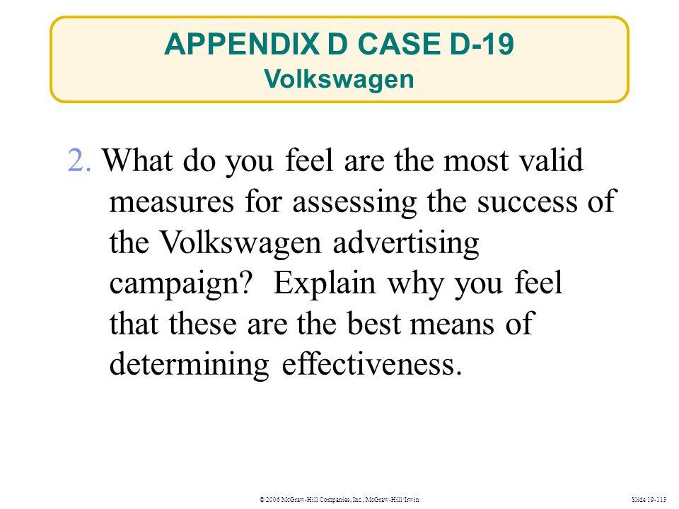 APPENDIX D CASE D-19 Volkswagen.