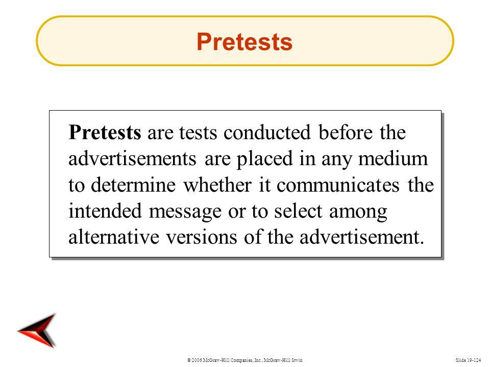 Pretests