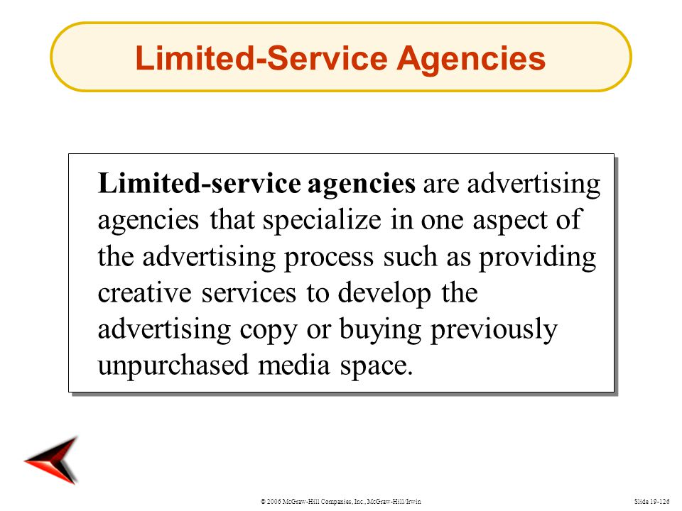 Limited-Service Agencies