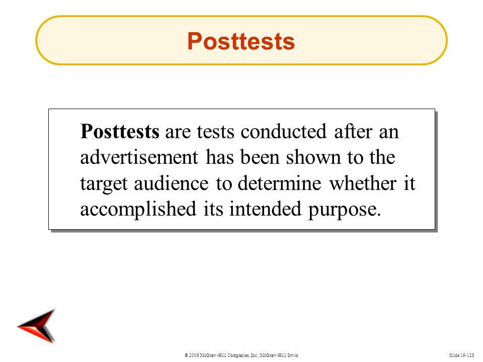 Posttests