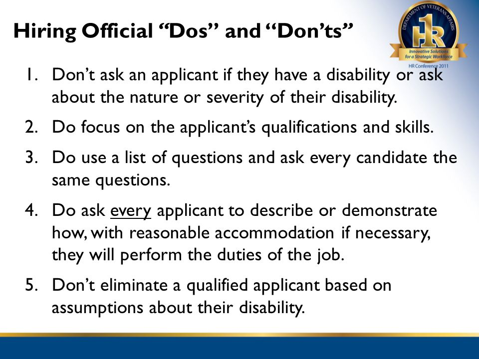 Hiring Official Dos and Don'ts