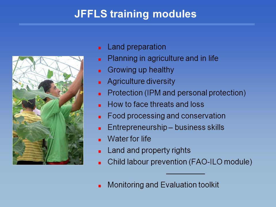 JFFLS training modules