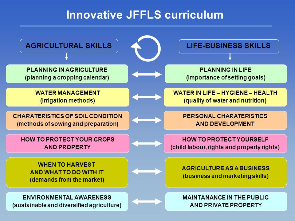 Innovative JFFLS curriculum