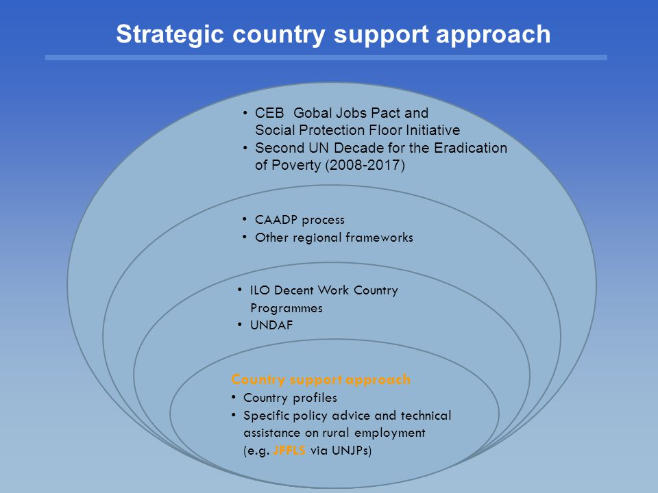 Strategic country support approach