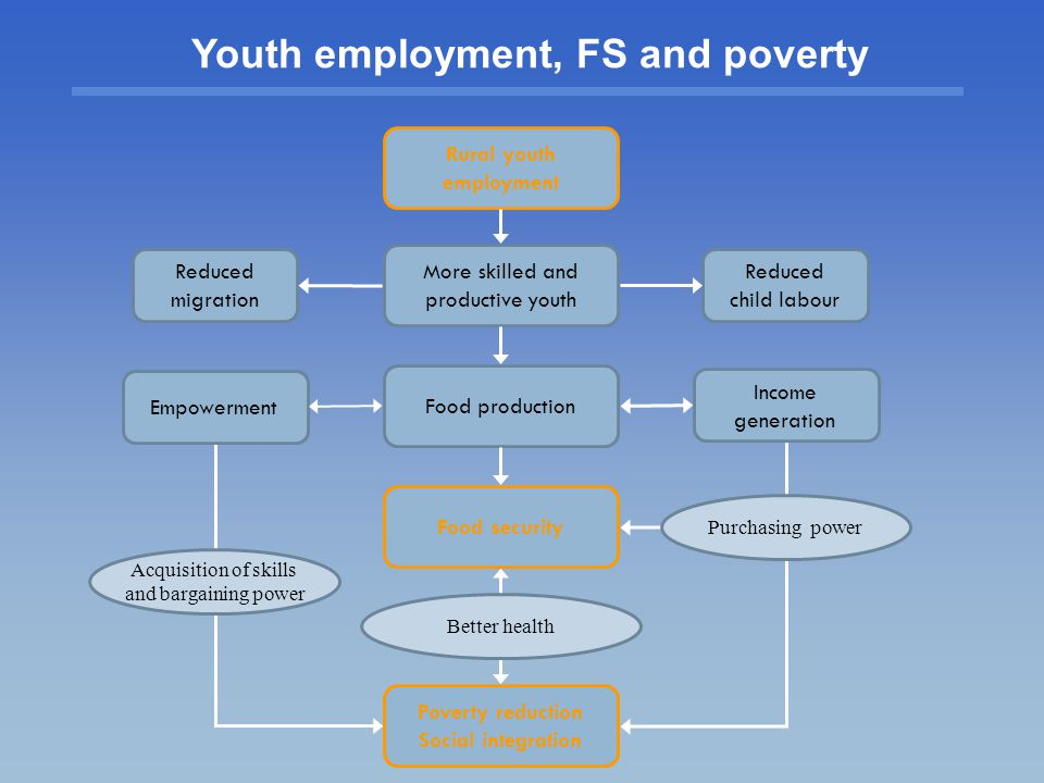 Youth employment, FS and poverty