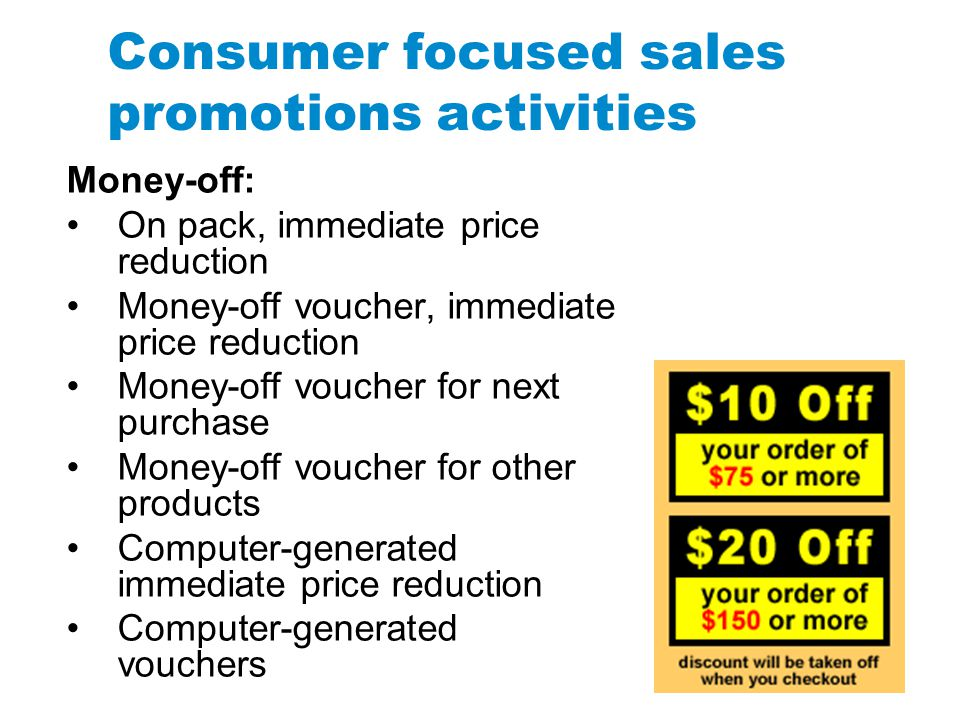 price based consumer sales promotion The effect of sales promotion on consumer behavior print reference  it was found that the price based sales promotions are the main factor to induce customers to.