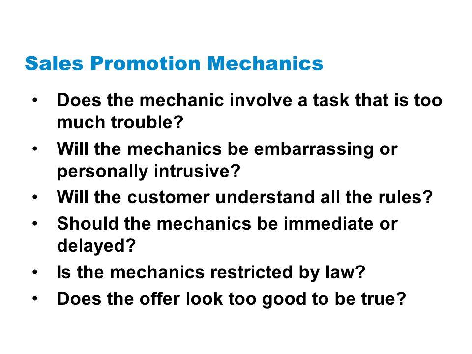 Sales Promotion Mechanics
