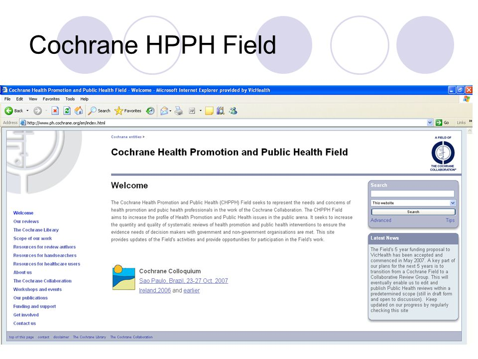 Cochrane HPPH Field
