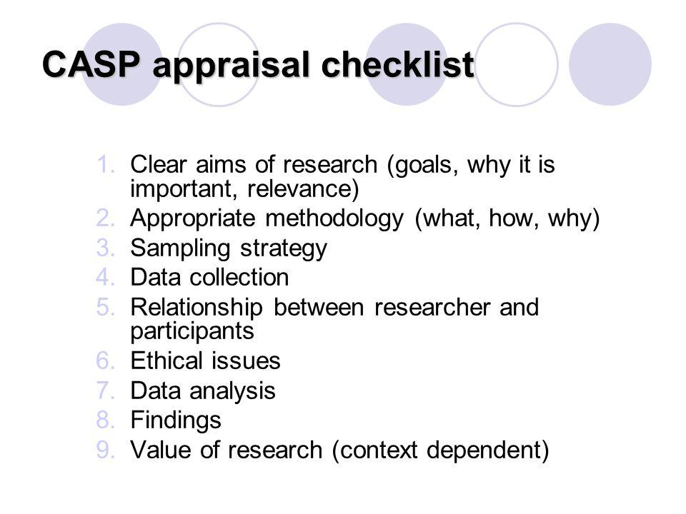 CASP appraisal checklist