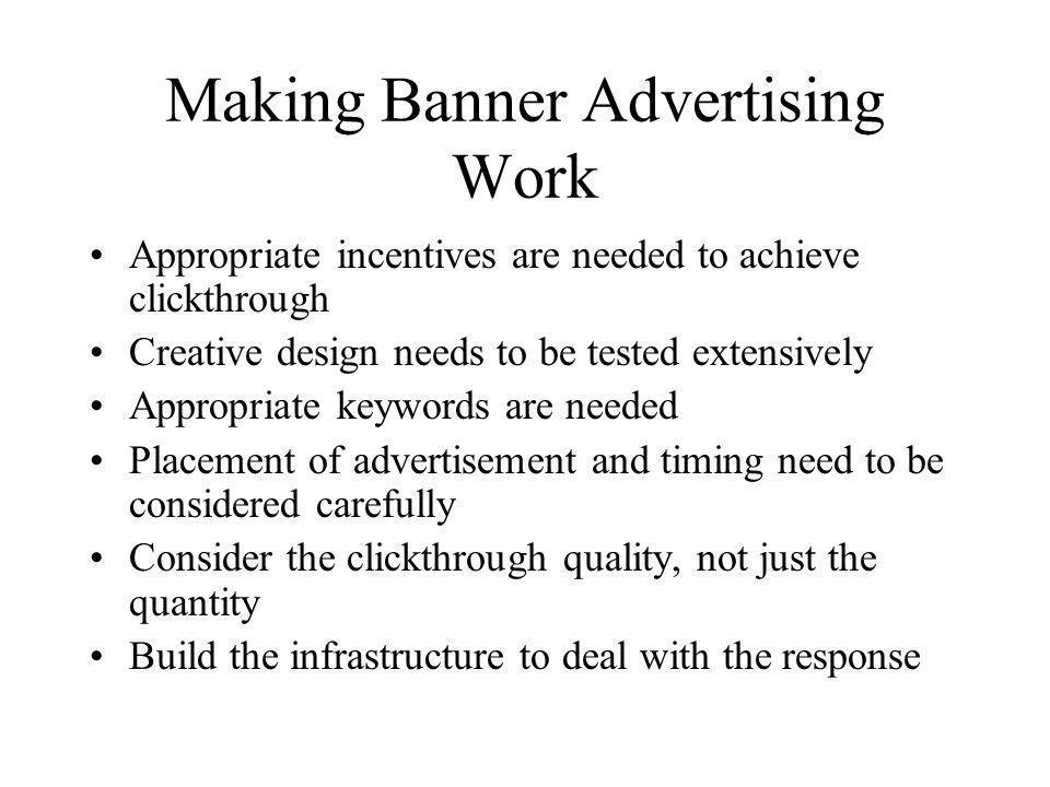 Making Banner Advertising Work