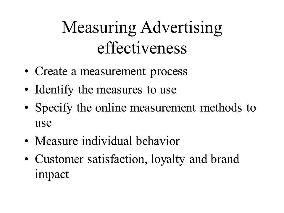 Measuring Advertising effectiveness