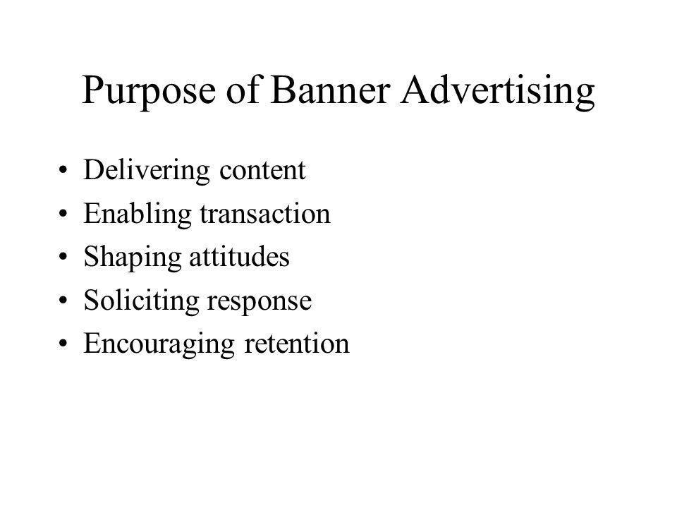 Purpose of Banner Advertising