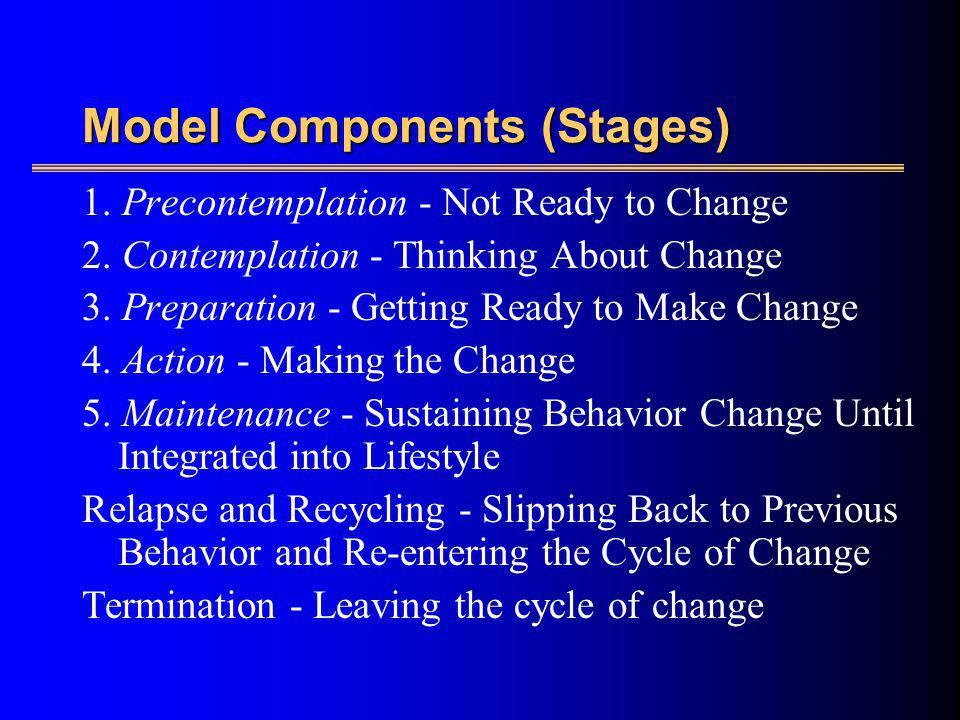 Model Components (Stages)