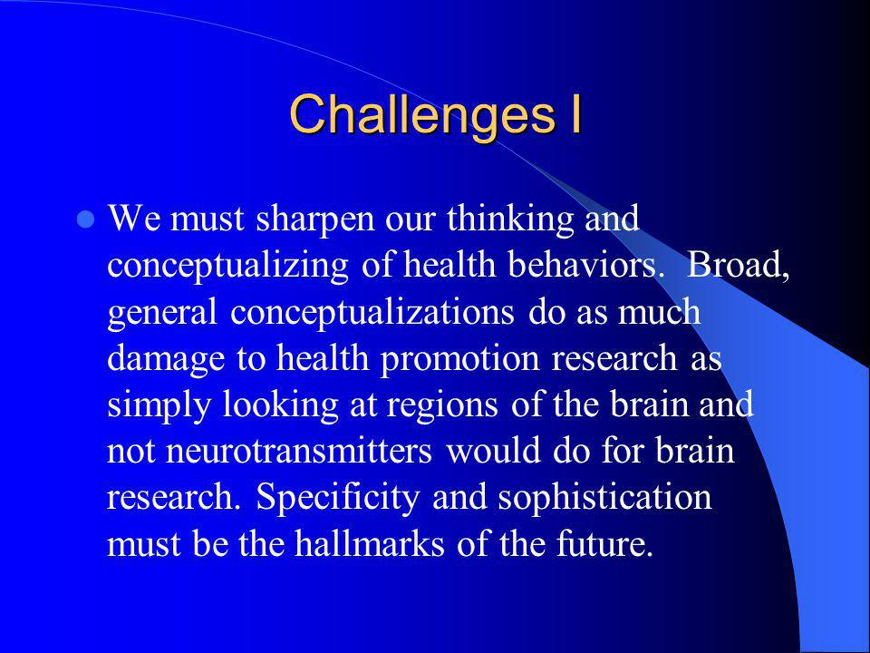 Challenges I