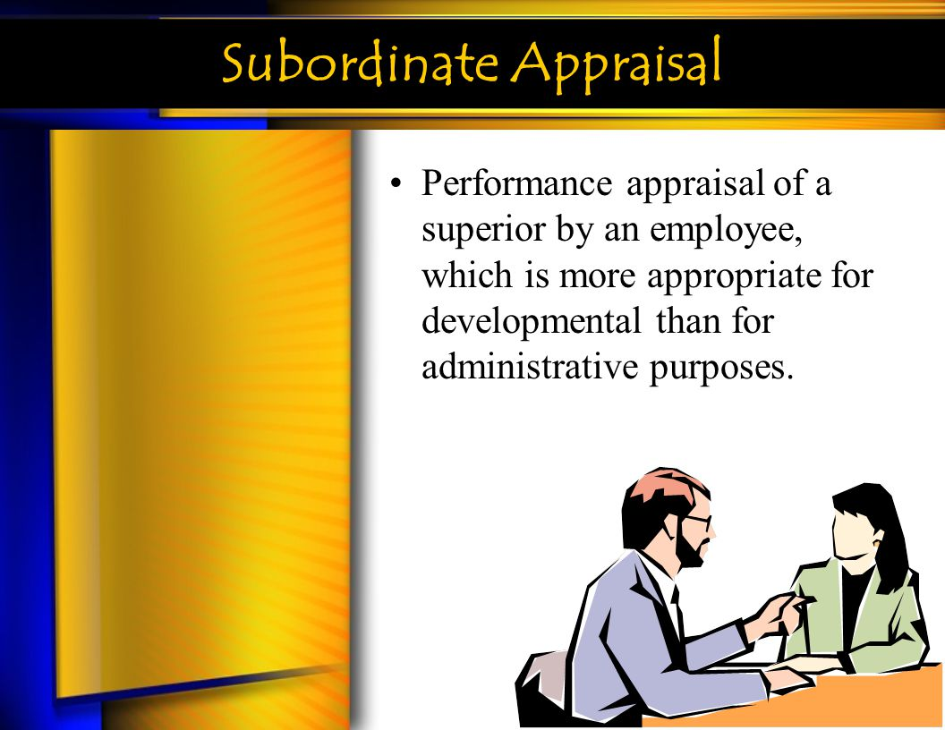 Subordinate Appraisal
