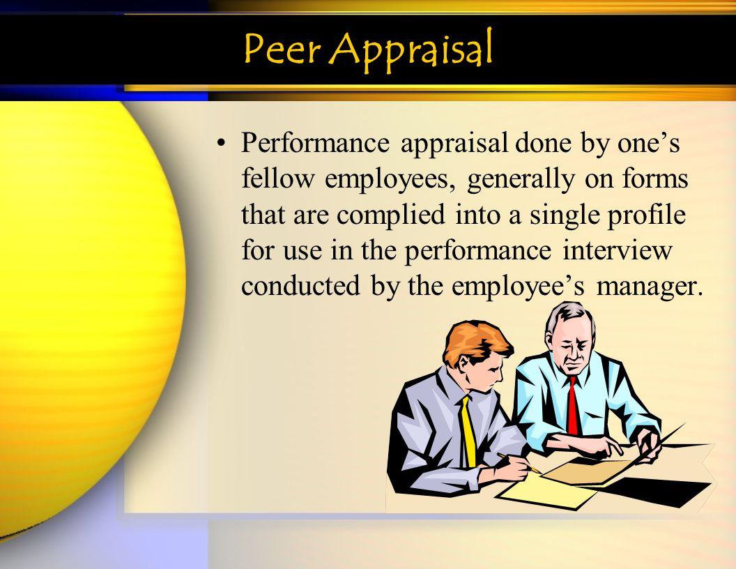 Peer Appraisal