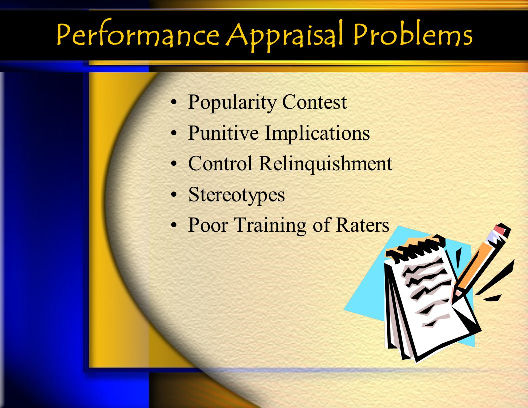 Performance Appraisal Problems