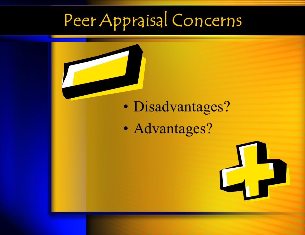 Peer Appraisal Concerns