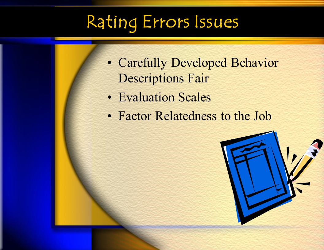 Rating Errors Issues Carefully Developed Behavior Descriptions Fair