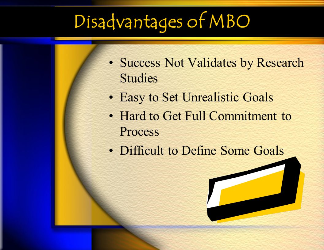 Disadvantages of MBO Success Not Validates by Research Studies