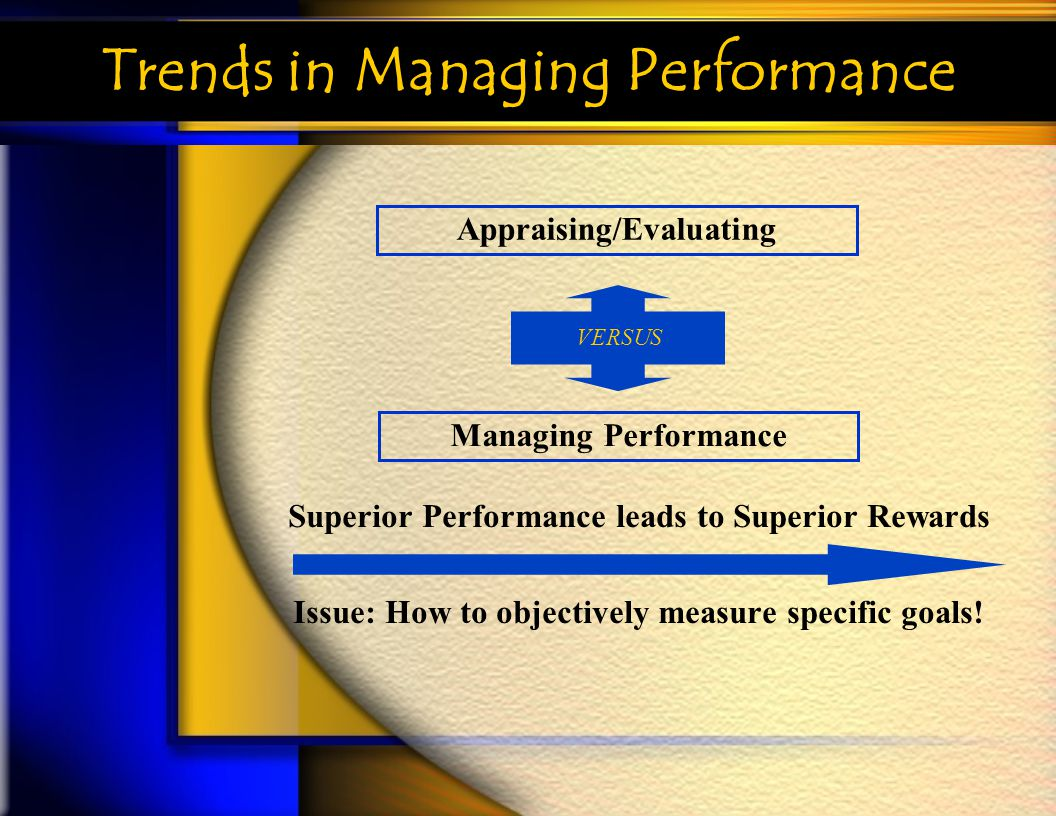 Trends in Managing Performance