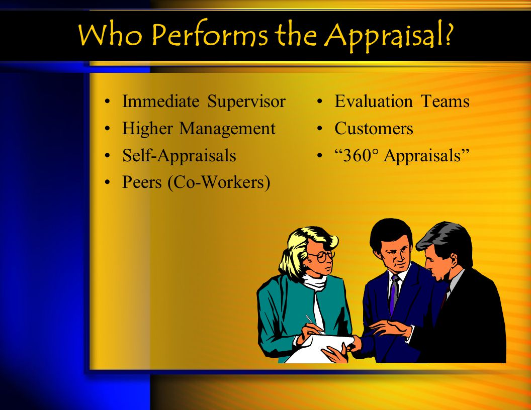 Who Performs the Appraisal